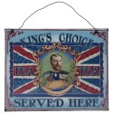Plaque métal King's Choice