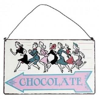 Plaque Filles aiment le chocolat