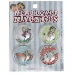 4 magnets Souvenirs d'enfance jouets