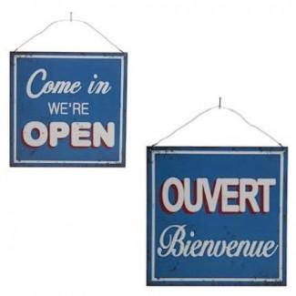 Plaque Ouvert / Open