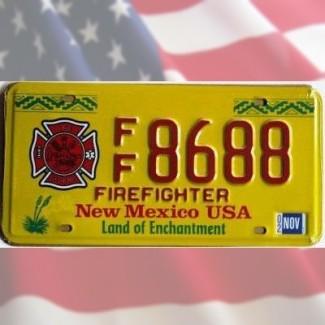 Plaque New Mexico USA Pompiers