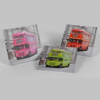 Trio Toiles Bus Anglais Londres
