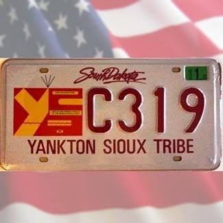 Plaque Dakota Sud Indiens Sioux