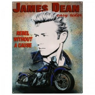 Plaque moto James Dean en métal