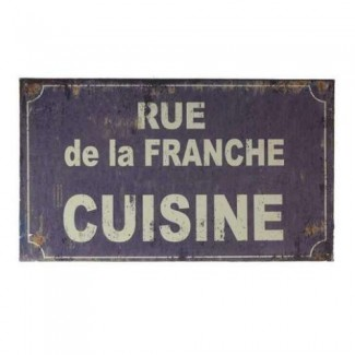 plaque d co cuisine fa on plaque de rue. Black Bedroom Furniture Sets. Home Design Ideas