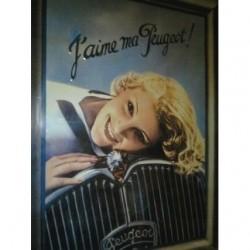 Plaque métal J'aime ma Peugeot