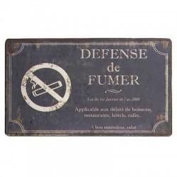 Plaque Défense de fumer