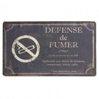 Plaque Bleue Défense de fumer