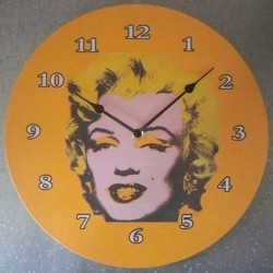 Horloge Jaune Marilyn Monroe