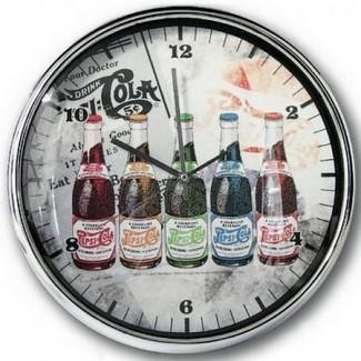 "Horloge Pepsi-Cola ""Bouteilles"""