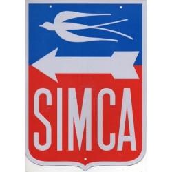Plaque Publicitaire Auto Simca