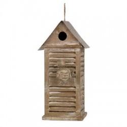 Nichoir oiseaux bois et zinc
