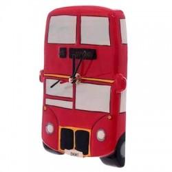 Horloge Céramique Bus Anglais 2