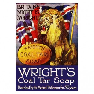 Plaque Wright/s Soap Lion UK