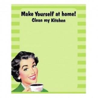 Plaque aimantée mémo et feutre clean kitchen