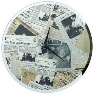 Pendule Newspaper Vintage Marilyn