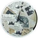 Pendule Newspaper Vintage