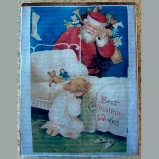 Magnet Prière du soir de Noël