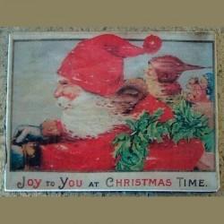 Magnet Père Noël à toute allure