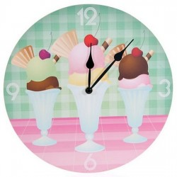 Horloge Sundae Crème Glacée