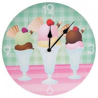 Horloge glaces crèmes glacées