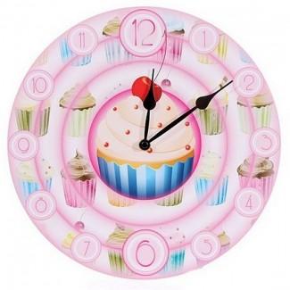 Horloge gâteaux cerise