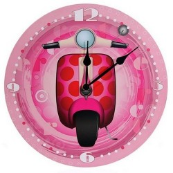 Horloge Scooter Vespa Rose
