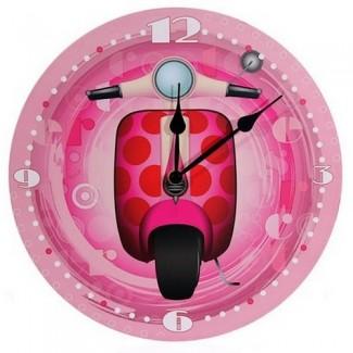 Horloge Scooter Vespa Rose