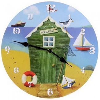 Horloge cabane de pêche mer