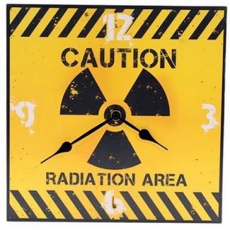 Horloge Caution Radiation Area Danger