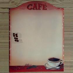 Plaque métal Café et ses 8 aimants