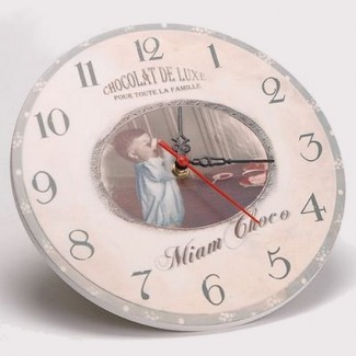 Horloge Chocolat de Luxe Miam