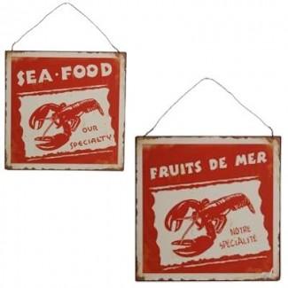 Plaque sea food - produits de la mer