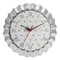 Horloge ''Moule à tarte violet et blanc''