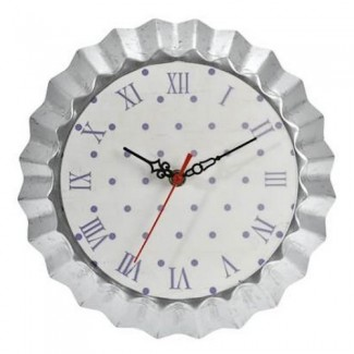 Horloge moule à tarte blanc et violet