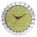 Horloge ''Moule à tarte vert et blanc''