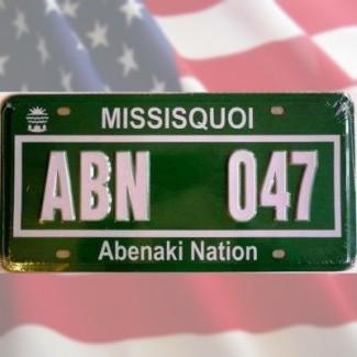 Plaque minéralogique Missisquoi Abenaki