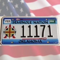 "Plaque Oklahoma ""Seminole Nation"""