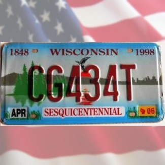 Plaque Wisconsin Lac Oiseau