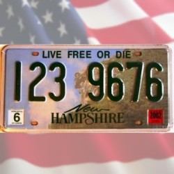 Plaque américaine New Hampshire - Live free or die