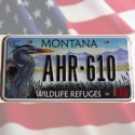 Reproduction de plaque USA Montana Wildlife Refuges