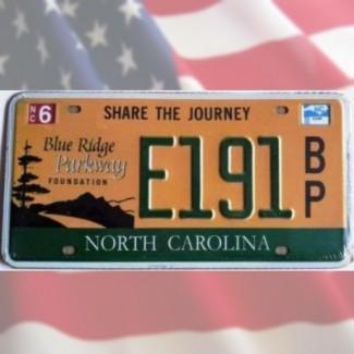 Plaque North Carolina Parkway