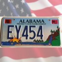 Reproduction Plaque Auto USA Alabama