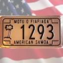 Plaque immatriculation American Samoa