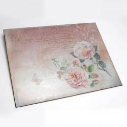 Plaque Roses Poème