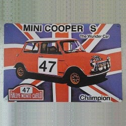 Plaque tôle Mini Cooper S RMC