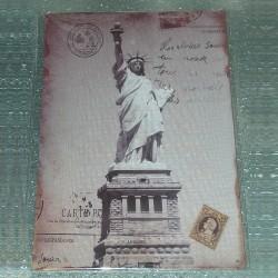 """Plaque Carte Postale """"Statue de la Liberté"""""""
