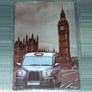 Plaque Londres Taxi Big Ben