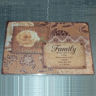 Plaque Family Rose