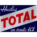 Plaque Huiles Total - En Vente Ici